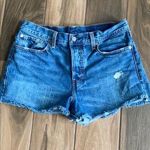 Levi's denim cut-off jeans shorts high rise 31